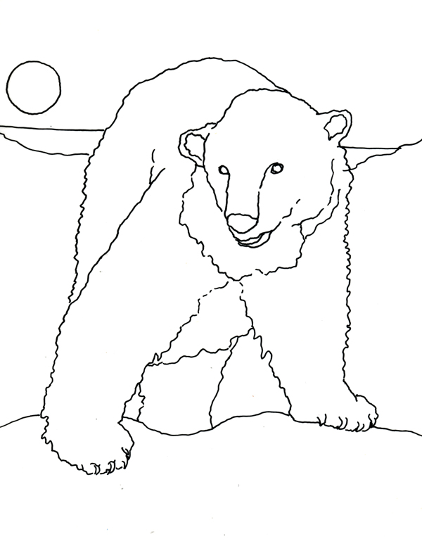 polar bears coloring pages children - photo#18